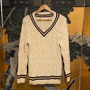 Brooks Brothers 100% Cotton V-Neck Sweater